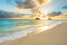 Beautiful Sunrise At Lanikai Beach In Kailua