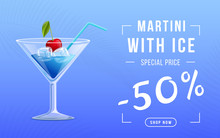 Vermouth With Ice Web Banner T...