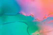 Artsy Neon Purple Texture Liquid Background