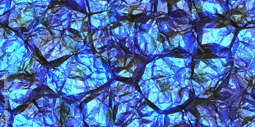 Fototapeten Künstlich Blue gemstone seamless pattern. Shiny colors rock stone texture. Crystal gem wall background.