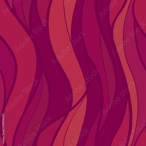 Obraz na plátně  abstract lines waves flame pattern seamless , curve intertwine line shape hand d
