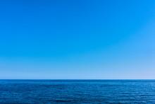 Seascape With Sea Horizon And Blue Sky