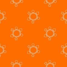 Charm Bracelet Pattern Vector Orange For Any Web Design Best