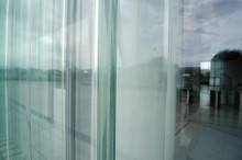 Glass Section, On The Facade Of A Building.