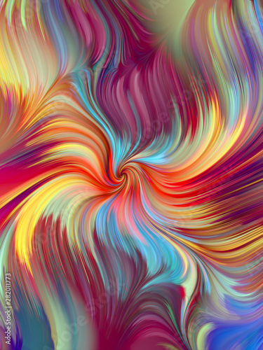 Energy of Color Flow Wall mural