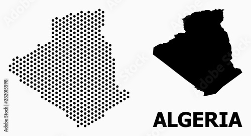 Photo Pixel Pattern Map of Algeria