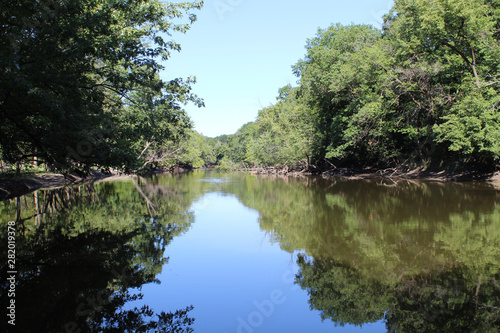 Tablou Canvas Des Plaines River at Chippewa Woods in Des Plaines, Illinois