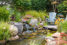 Landscape Architecture With Water Features For Summer Garden