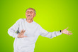 Leinwandbild Motiv Elderly man dancing in the studio