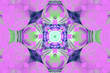 canvas print picture - Pink purple fractal fraktal geometric pattern wallpaper art artsy background cover flyer pattern