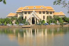 Is A Multipurpose Building Used In The Meeting Various Seminars Get A Degree Genesis Is Used Here. Mahachulalongkornrajavidyalaya University Wangnoi Ayuthaya In Thailand