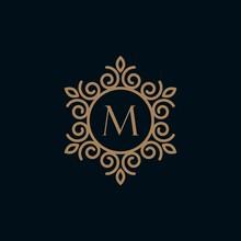 Elegant Monogram Letter M  Log...