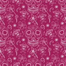 Seamless Pattern Day Of The Dead Dia De Los Muertos
