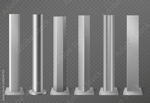 Fototapeta Metal poles