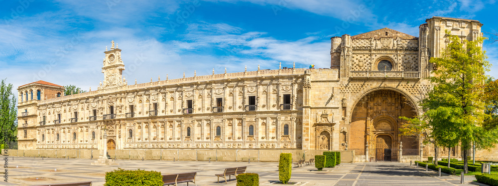 Fototapety, obrazy: Panoramic view at the San Marcos Convent in Leon - Spain