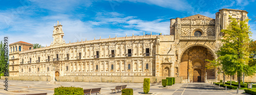 Panoramic view at the San Marcos Convent in Leon - Spain