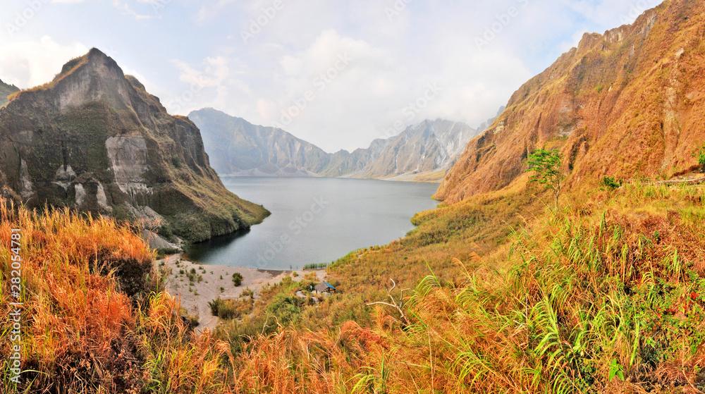 Fototapeta Lake Pinatubo  - the summit crater lake of Mount Pinatubo