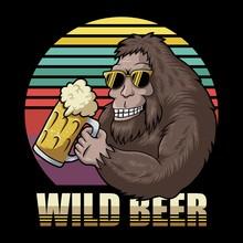 Bigfoot Beer Retro Vector Illu...