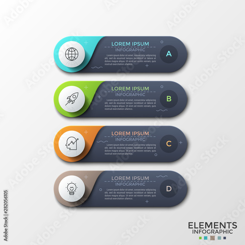 Modern Infographic Template Canvas-taulu