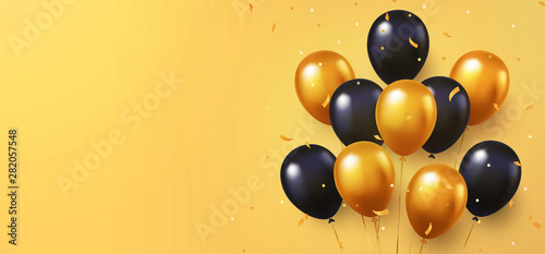 Fotografia  Celebration, festival background with helium balloons