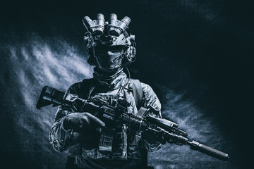 Army special forces fighter...