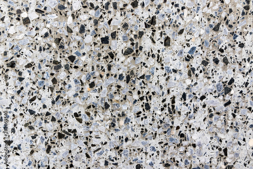 White marble terrazzo flooring pattern  Texture of mosaic