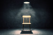 canvas print picture - Illuminated chair in interior
