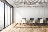 Minimalistic coworking officeinterior