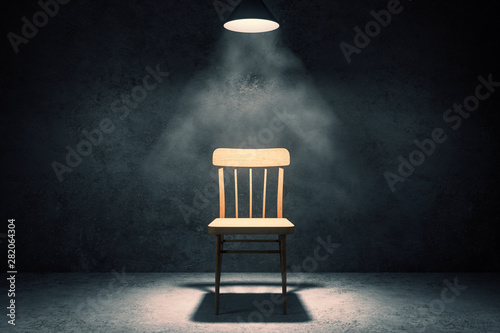 Autocollant pour porte Lumiere, Ombre Illuminated chair in interior