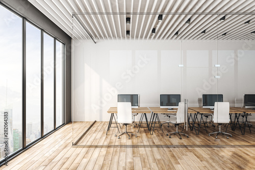 Minimalistic coworking officeinterior - 282064383