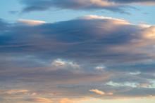 Stratocumulus Stratiformis Clouds At Evening Twilight