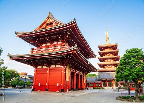 Foto op Canvas Tokyo 浅草寺 宝蔵門と五重塔