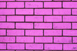 canvas print picture - Purple wall of foam blocks, new technologies.