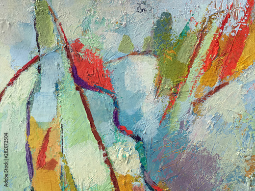 Obrazy na ścianę  vivid-abstract-minimalistic-painting-background-with-mixed-paint-texture-artwork-painting