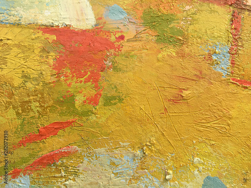 Fotografiet Autumn abstract background in impasto style