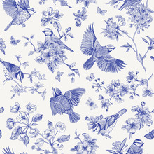Seamless Pattern. Classis Vint...