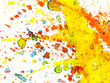 canvas print picture - Colorful Watercolor Splashes on White Paper Background