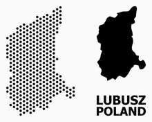 Pixelated Mosaic Map Of Lubusz...