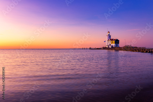 Photo Stands Horses Lighthouse Paard van Marken