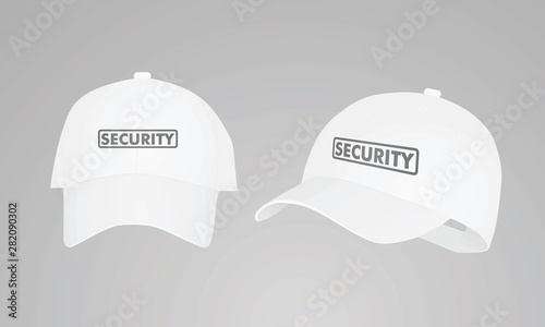 Fotografie, Tablou  White security cap. vector illustration