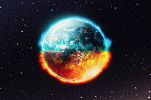 View Of Looking Planet Earth O...