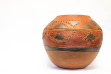 African Clay Pot Isolated On W...