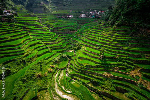 Obraz na plátně Aerial View of Batad Rice Terraces, Ifugao Province, Luzon Island, Philippines