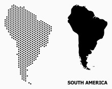 Dot Mosaic Map Of South America