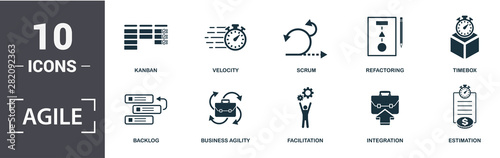 Photo Agile icon set