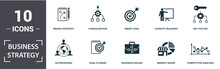 Business Strategy Icon Set. Co...