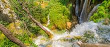 Luxurious And Tumultuous Waterfalls Of Plitvice Lakes, Croatia