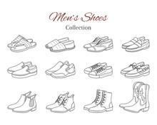 Men's Shoes Collection. Variou...