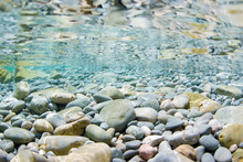 Sea Stones In The Sea Water An...