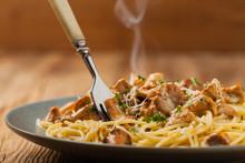 Spaghetti With Mushroom Chanterelles